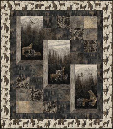 Stonehenge Aspen Ridge Flannel Kit Lap Size Quilt By