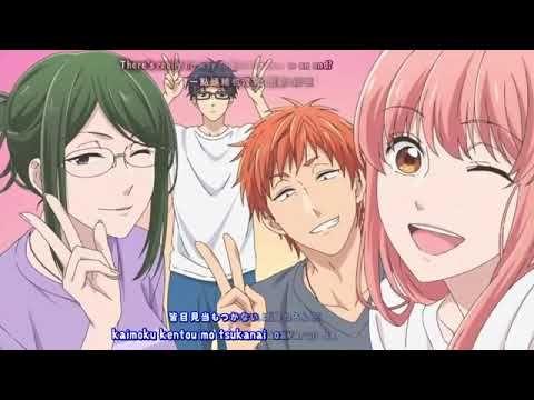 Wotaku ni Koi wa Muzukashii OP FullAMV Lyrics Fiction   Sumika