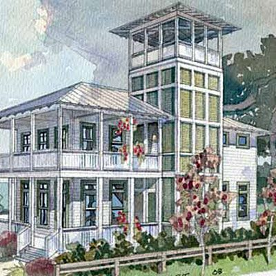cottage floor plans - Beach House Plans With Tower