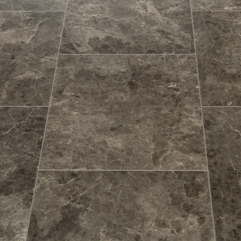 Floorgrip 95 Rapallo Dark Marble Tile Effect Vinyl Flooring Home