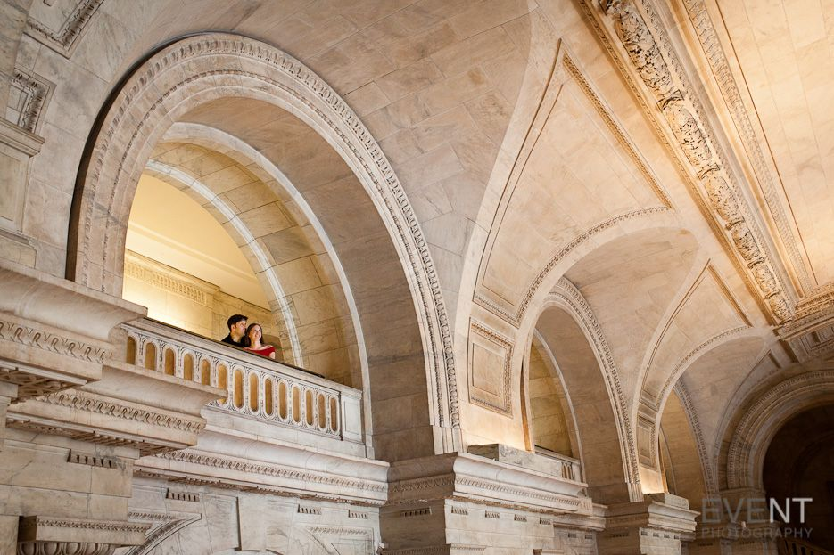 New York Public Library Engagement Session | Dan & Isabel | Vermont Wedding Photographers in Burlington VT | Eve Event Photography