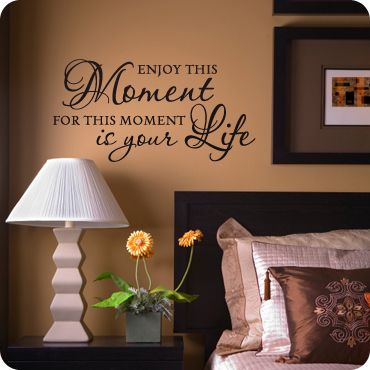 Enjoy This Moment Wall Canvas Website And Canvases - Can you put a wall decal on canvas