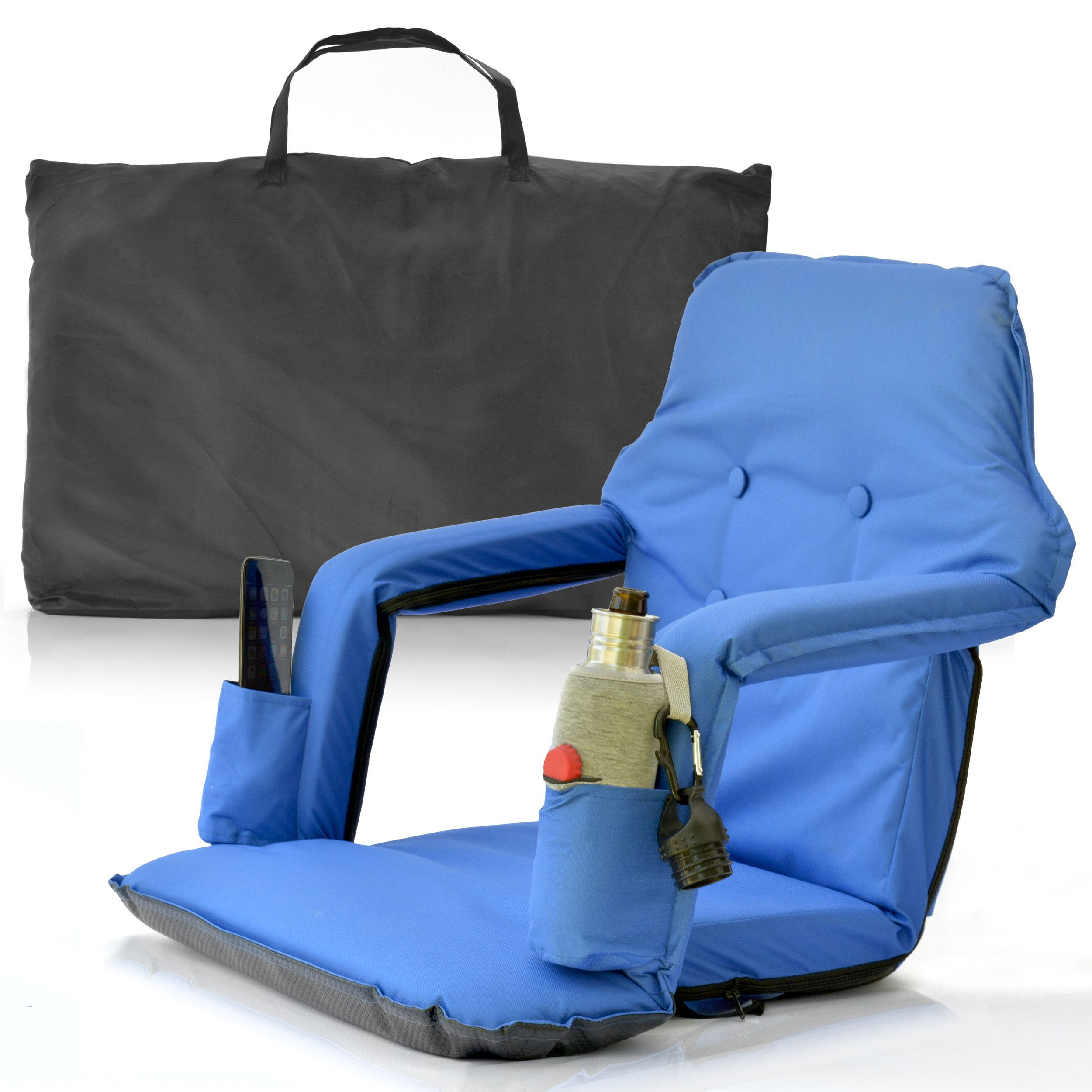 Portable Stadium Chair For Bleachers Extra Wide Water