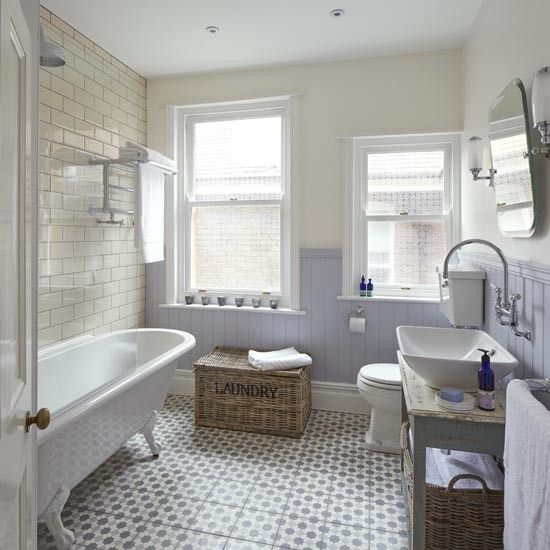 Small Bathrooms Cottage Style: Kitchen, Bathroom, Bedroom, Living Room And Garden Design