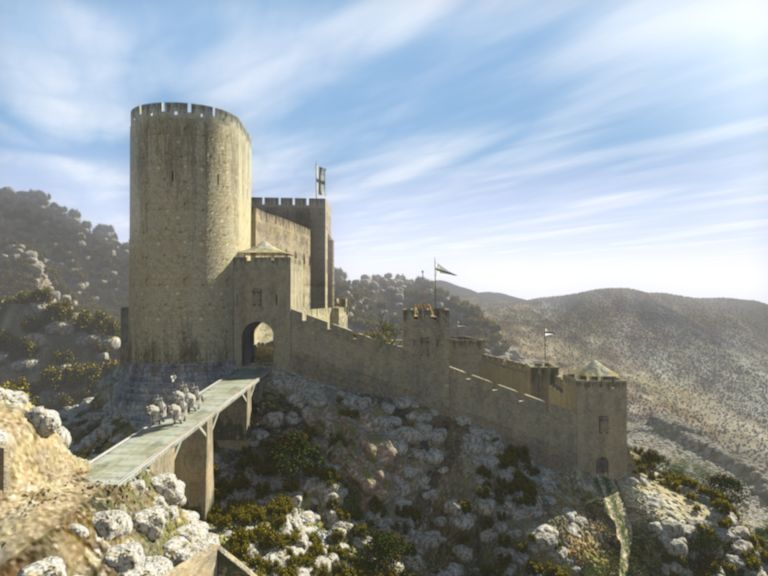 Castle Montfort Of The Teutonic Knights In Palestine Around 1250