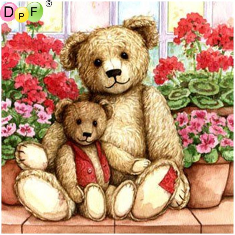 Bear DIY 5D Diamond Embroidery Painting Cross Stitch Craft  Home Decor