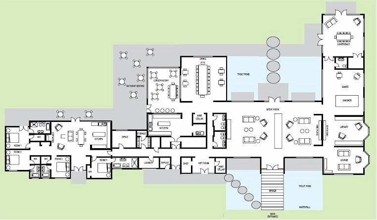 The Right On Target Hunting Lodge Floor Plans Floor Plans Building Plans House House Floor Plans