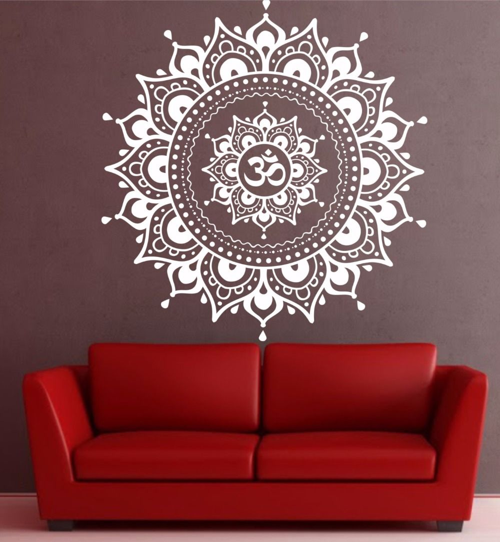 Aliexpress.com: Comprar Mandala Pattern Big Wall Decal Vinyl Art Sticker  Loto Yoga Meditación