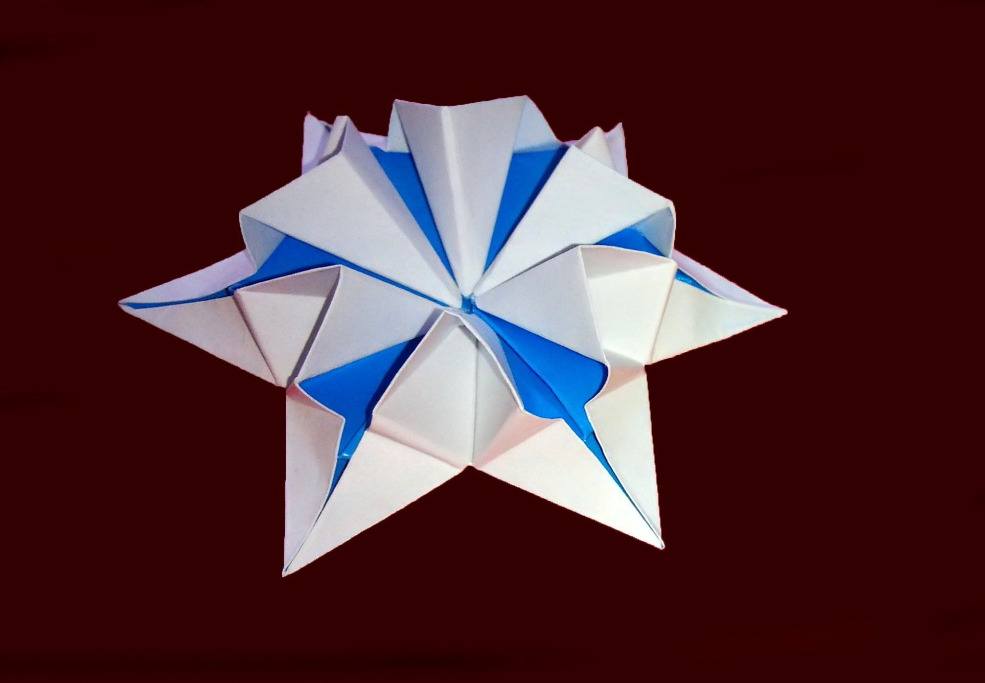 Amazing origami flower-star. 3d paper flower! Great Ideas ... - photo#15