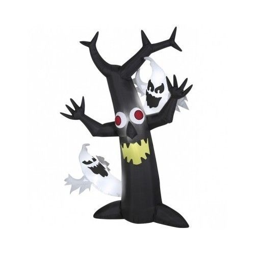 halloween inflatable outdoor decoration ghost tree scene 6 ft yard decor scary halloweeninflatableoutdoor - Outdoor Inflatable Halloween Decorations