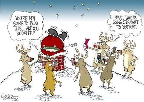 Santa Stuck In The Chimney Funny Christmas Cartoons Funny Christmas Pictures Christmas Comics