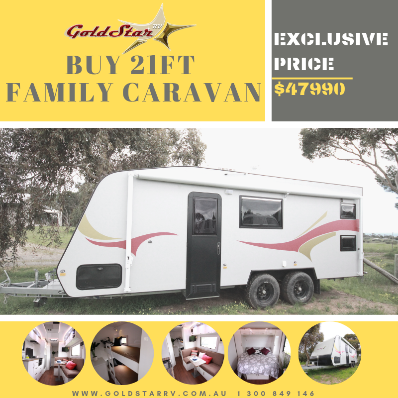Family Caravan 21ft Super Insulation Features Luxury Sofa In Various Color Options Convertable Full Size Single Bed L Shape Caravans For Sale Motorhome