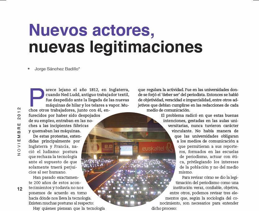 Nuevos actores, nuevas legitimaciones.  Zócalo 153