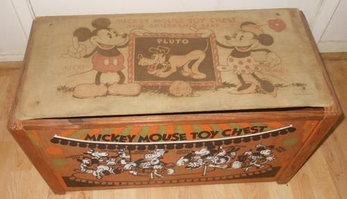 Walt Disney Mickey Minnie Mouse Toy Chest Seat Wood Cloth Cardboard 32 33 Ebay With Images Mickey Mouse Toys Minnie Mouse Toys Disney Decor