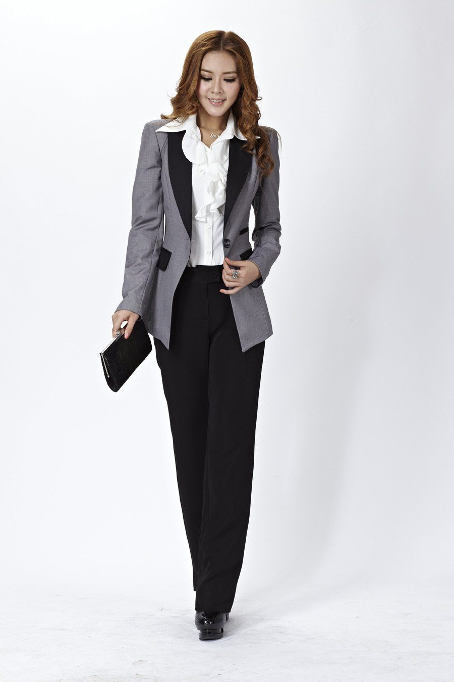 9fa0adf9845 New-Women-Suits-Blazer-Pants-Office-Ladies-Professional-Career-Long-Sleeve