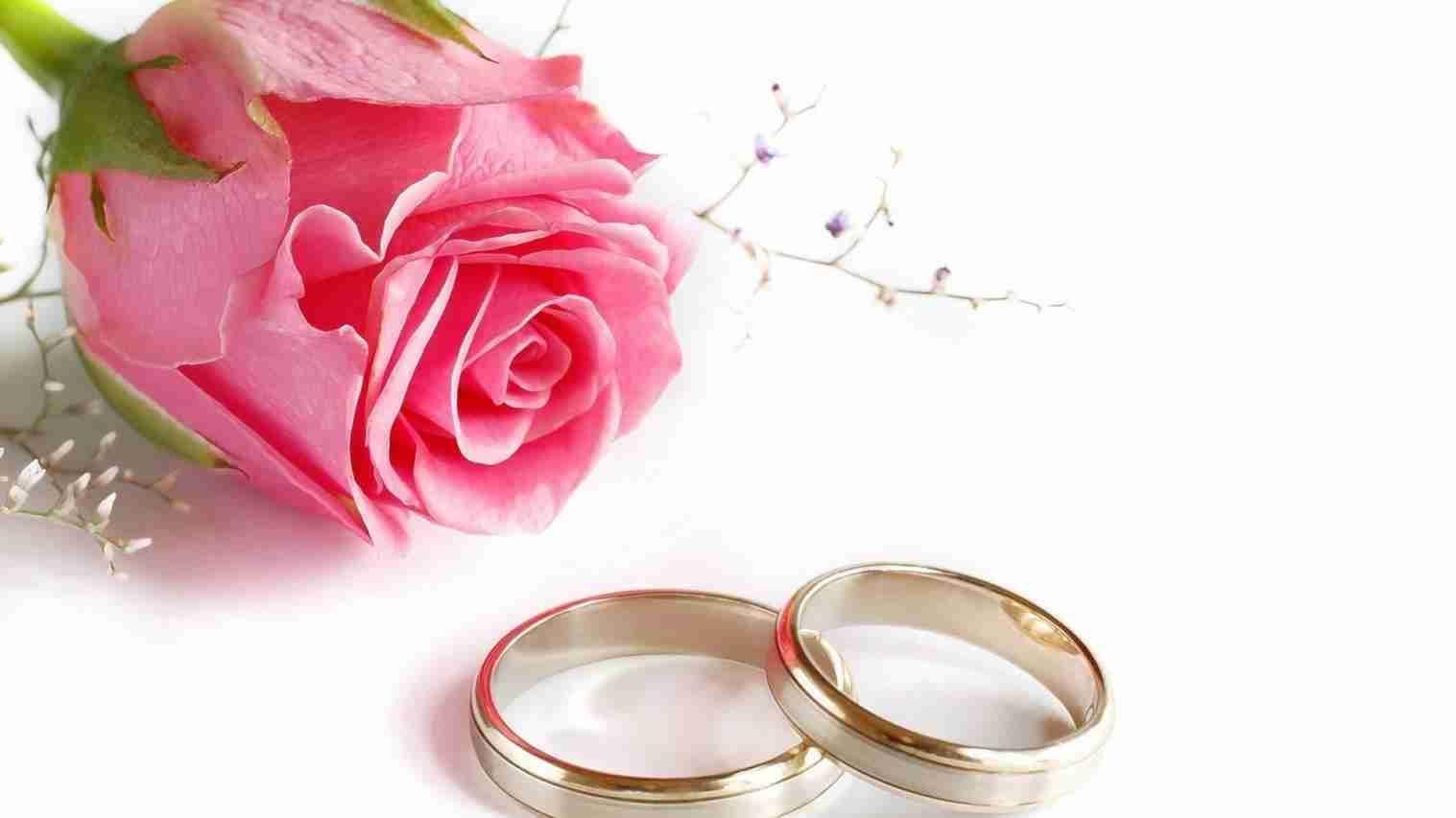 wedding rings and flowers wallpaper | Weddings | Pinterest | Flower ...