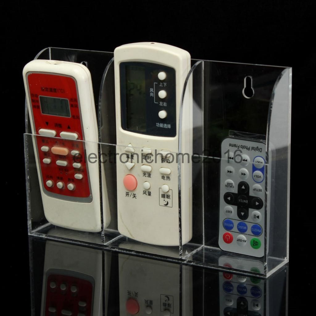 TV Air Conditioner Remote Control Wall Mount Holder Case Storage Box Home Hanger
