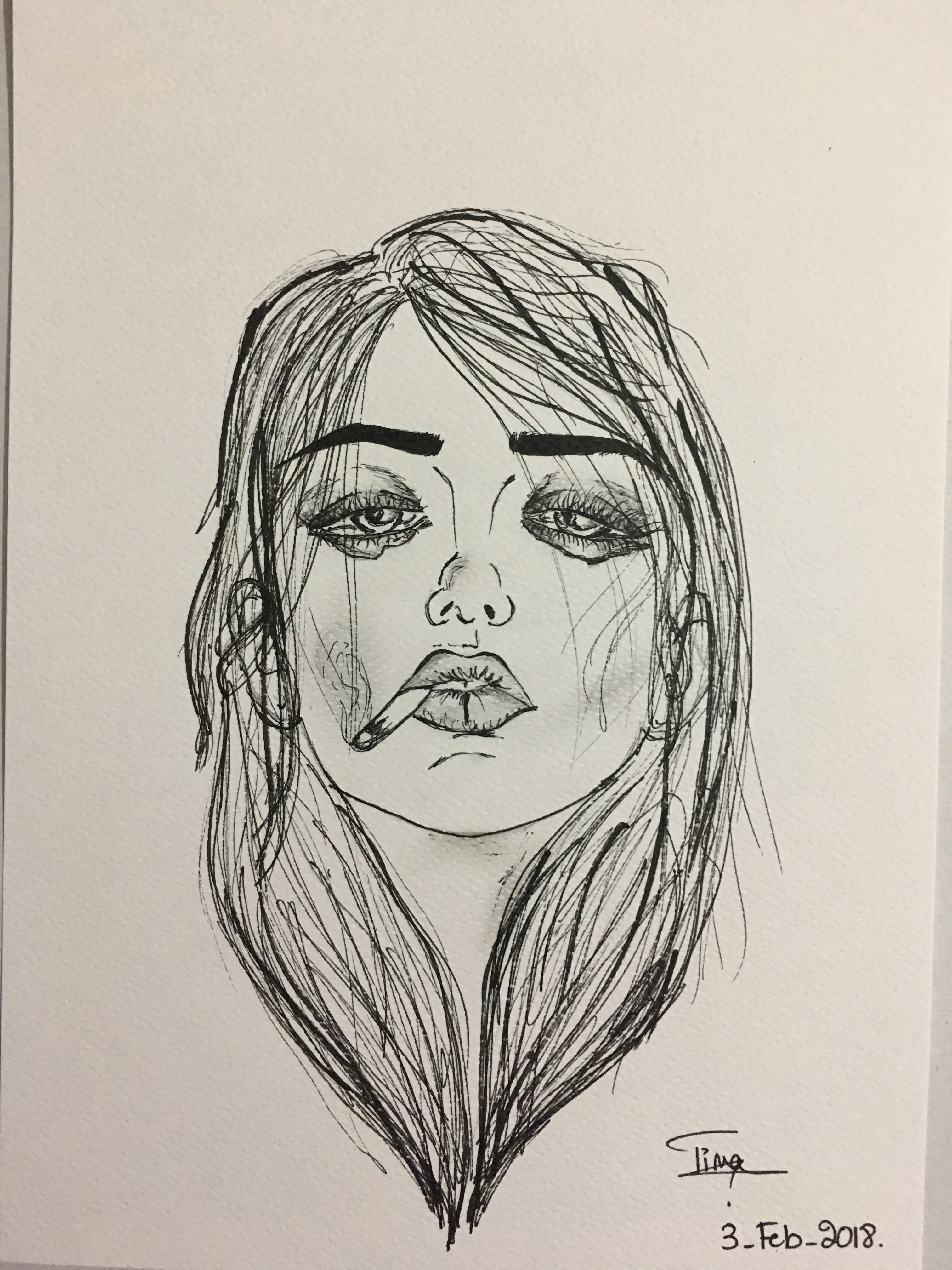 Original By Harumi Hironaka Doodle In 2019 Art Sketches