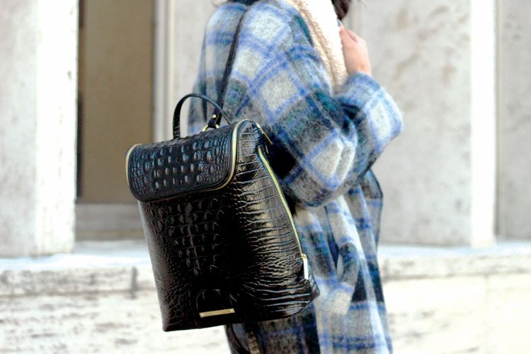 The Fashion Philosophy with the Darcy Backpack in Black Melbourne at NYFW