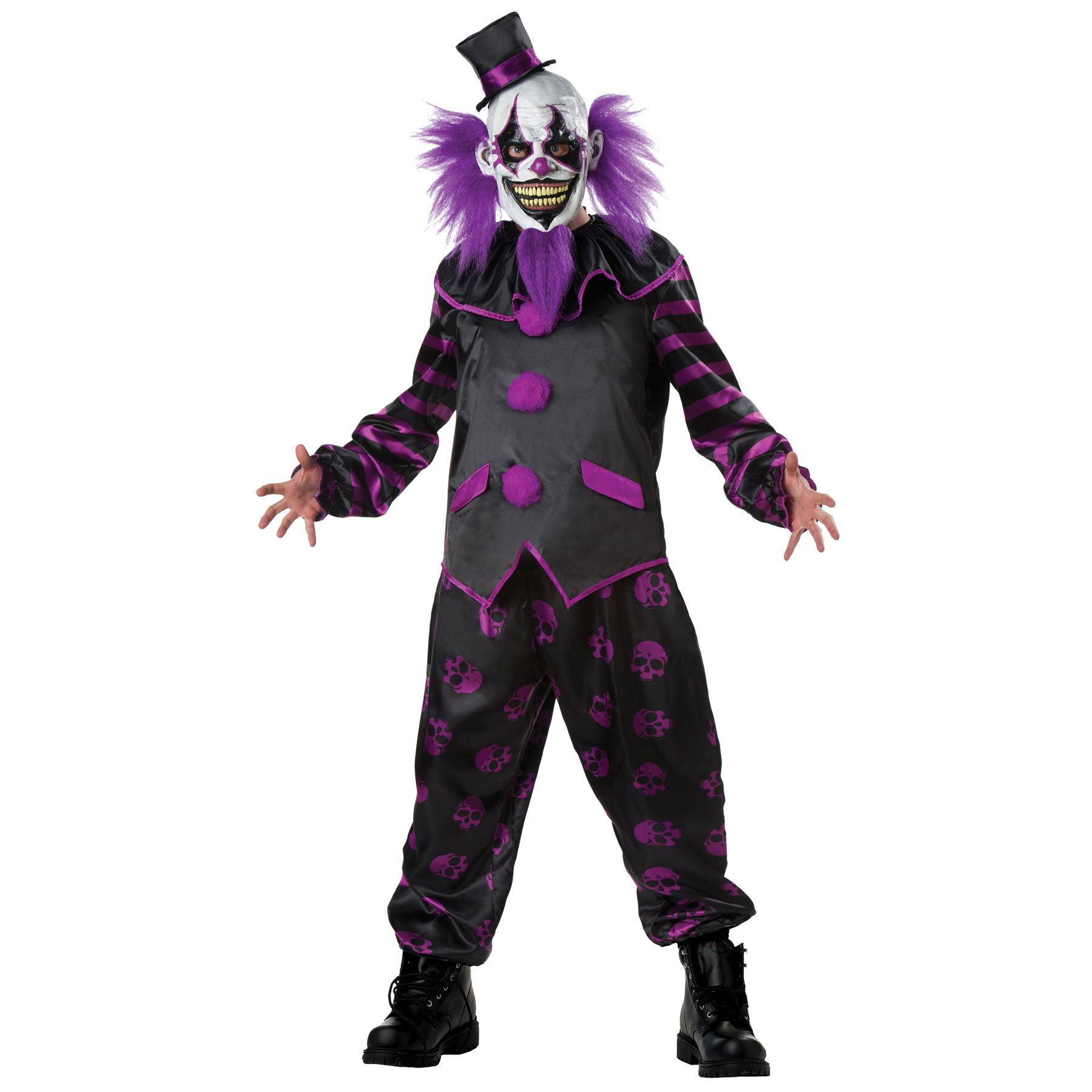 Kmart Halloween Costumes 2020 Ringmaster Men's Bearded Clown Costume, Size: XL | Clown costume, Scary clown