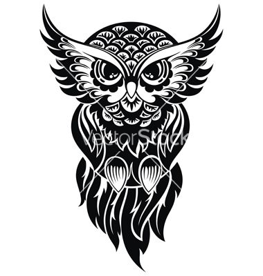 Owl Vector Image On Owl Vector Owl Tattoo Design White Owl Tattoo