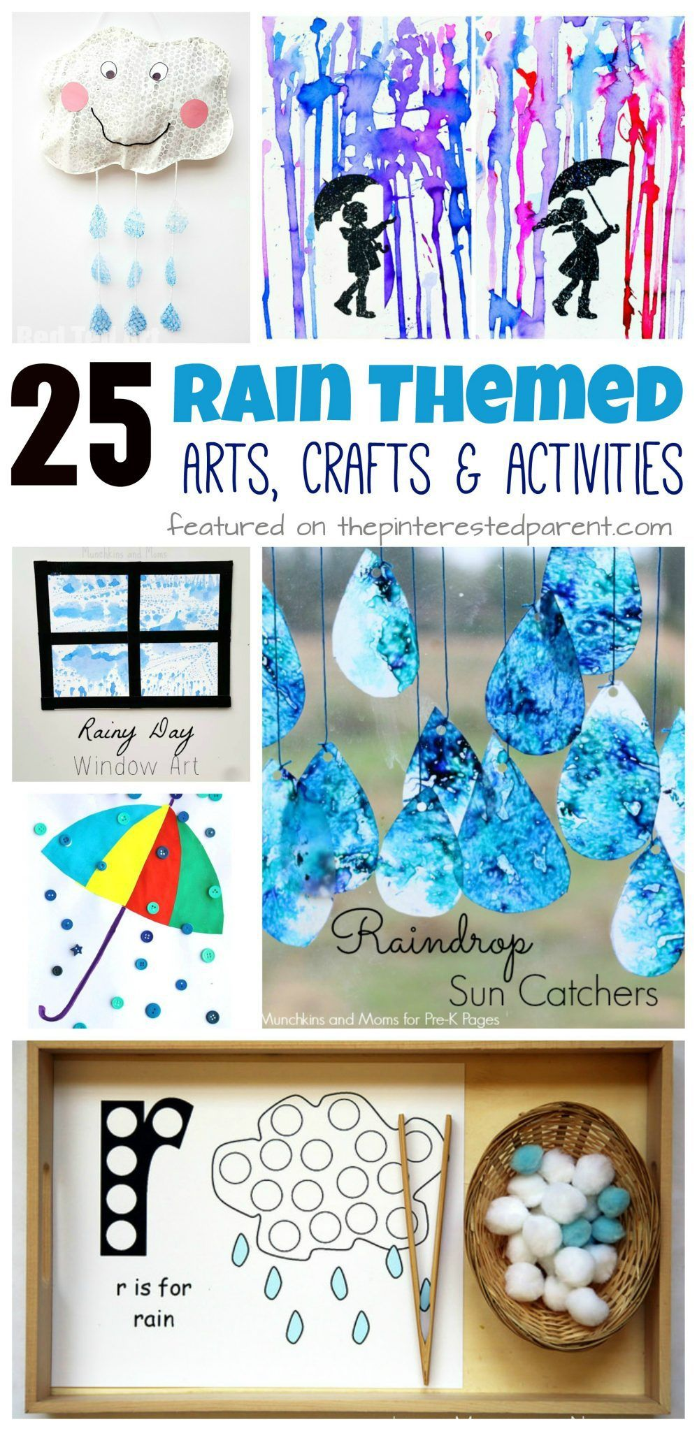 25 Rain Themed Arts Crafts Activities Weather Craft