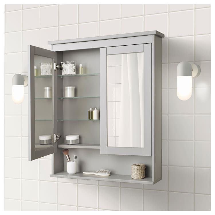 IKEA HEMNES Gray Mirror with 2 doors Koupelna
