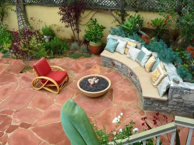Foyer extérieur ultime- le brasero de jardin de design moderne - banc en pierre pour jardin