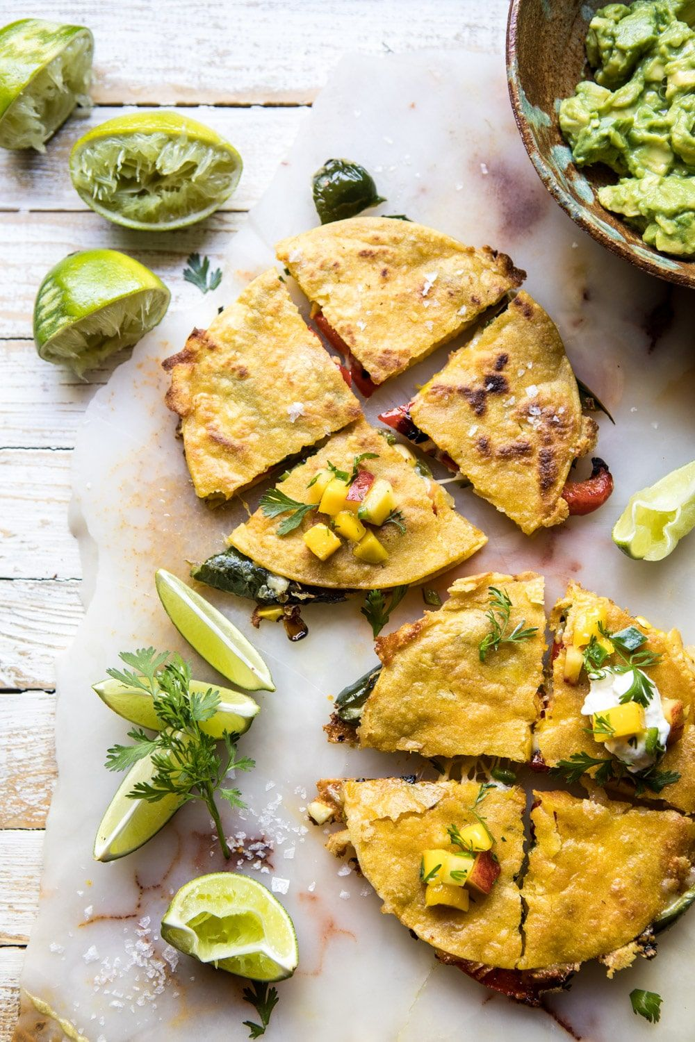 Grilled Vegetable and Cheese Quesadillas with Mango Salsa Grilled Vegetable and Cheese Quesadillas with Mango Salsa |  recipe
