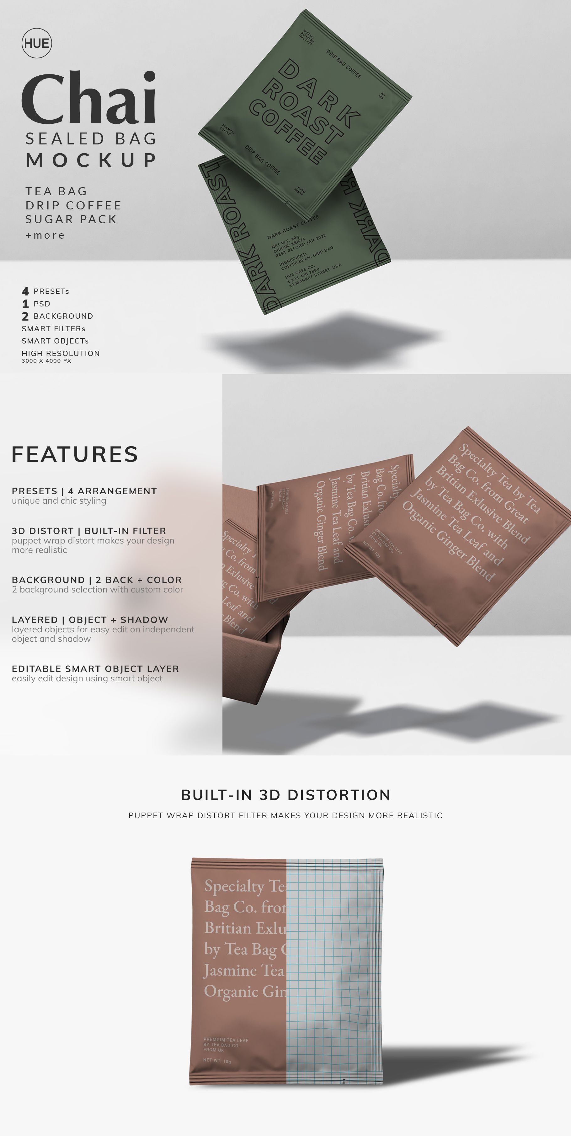 Download Chai Tea Bag Mockup Template Coffee Bag Design Tea Packing Design Tea Packaging Design
