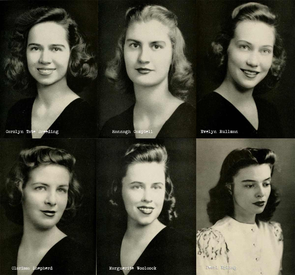 1940s College Girl Hairstyles 1940s Hairstyles Girl Hairstyles Vintage Hairstyles