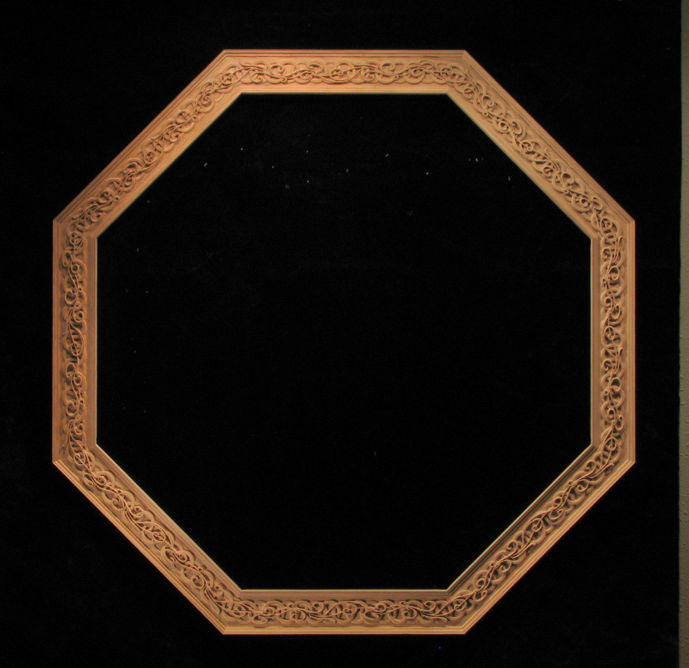 Wood Carved Celtic Octagon Wooden Frame Carving Wood Carving
