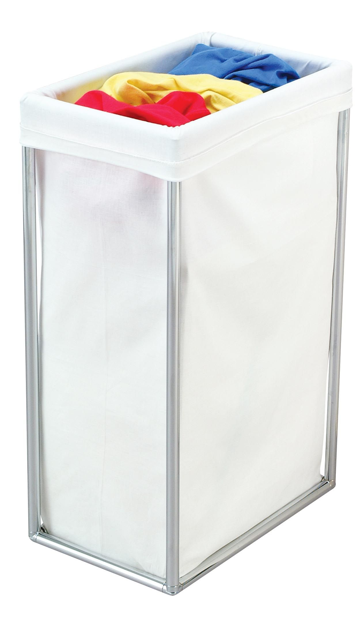 2615 Single Chrome Bag Stand Laundry Hamper with Cotton Laundry Bag ...