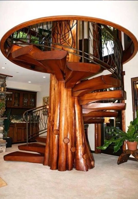 Best Spiral Staircase Built Around A Tree Trunk Staircase 400 x 300