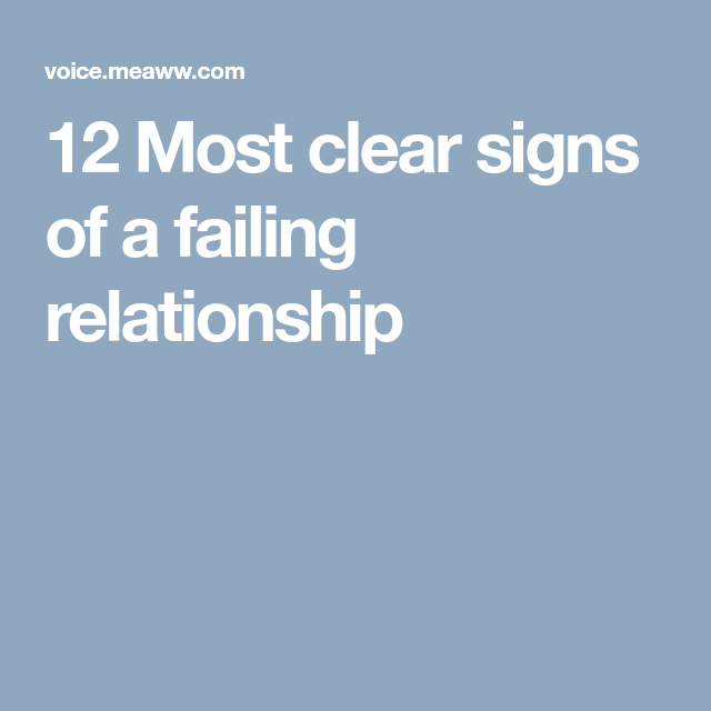 12 Most clear signs of a failing relationship | RELATIONSHIP RED
