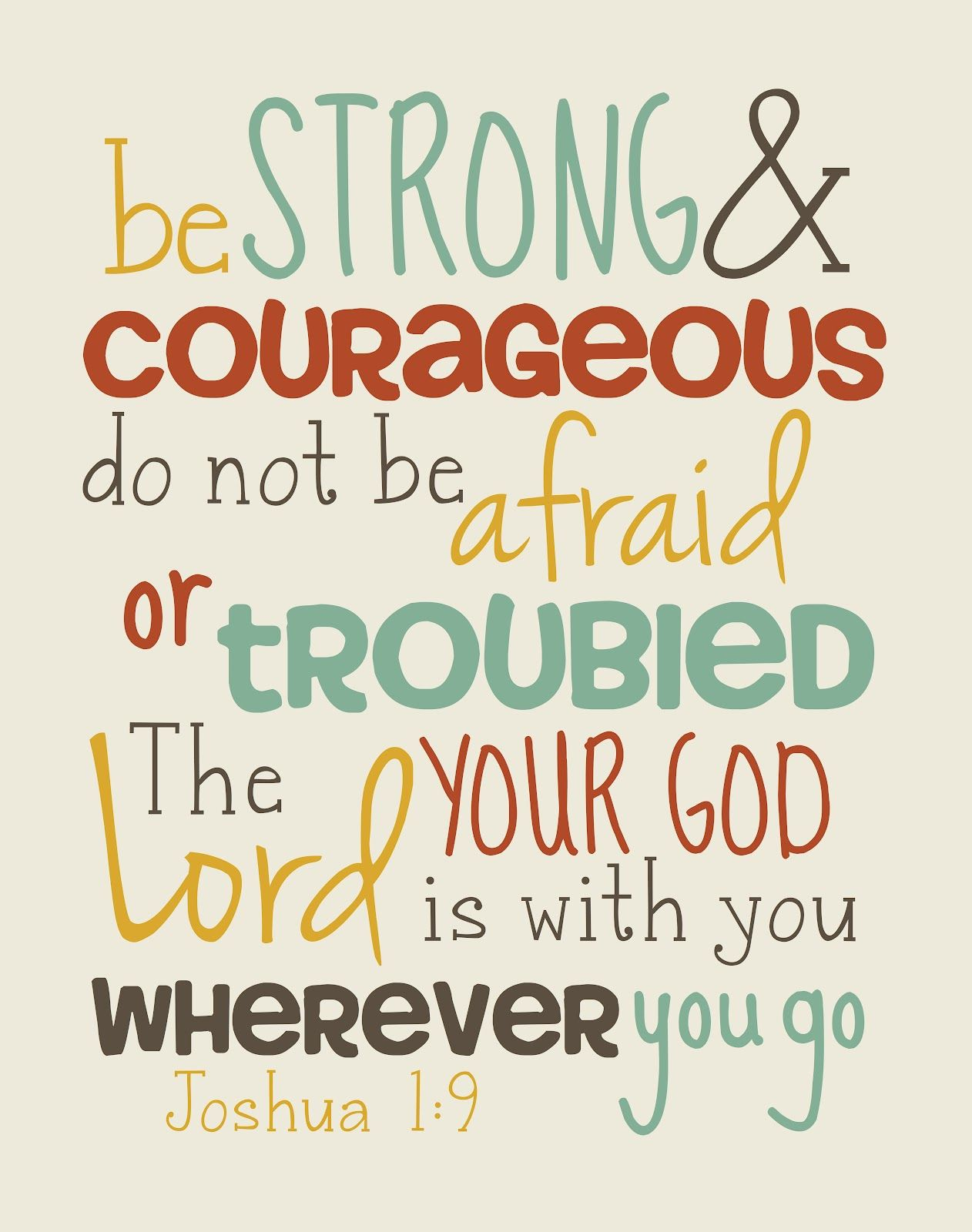 joshua 1 9 scripture for graduates be strong and