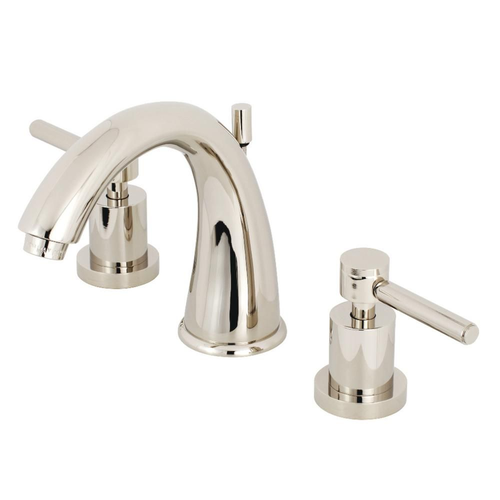 Peachy Kingston Brass Modern 8 In Widespread 2 Handle Mid Arc Interior Design Ideas Gresisoteloinfo