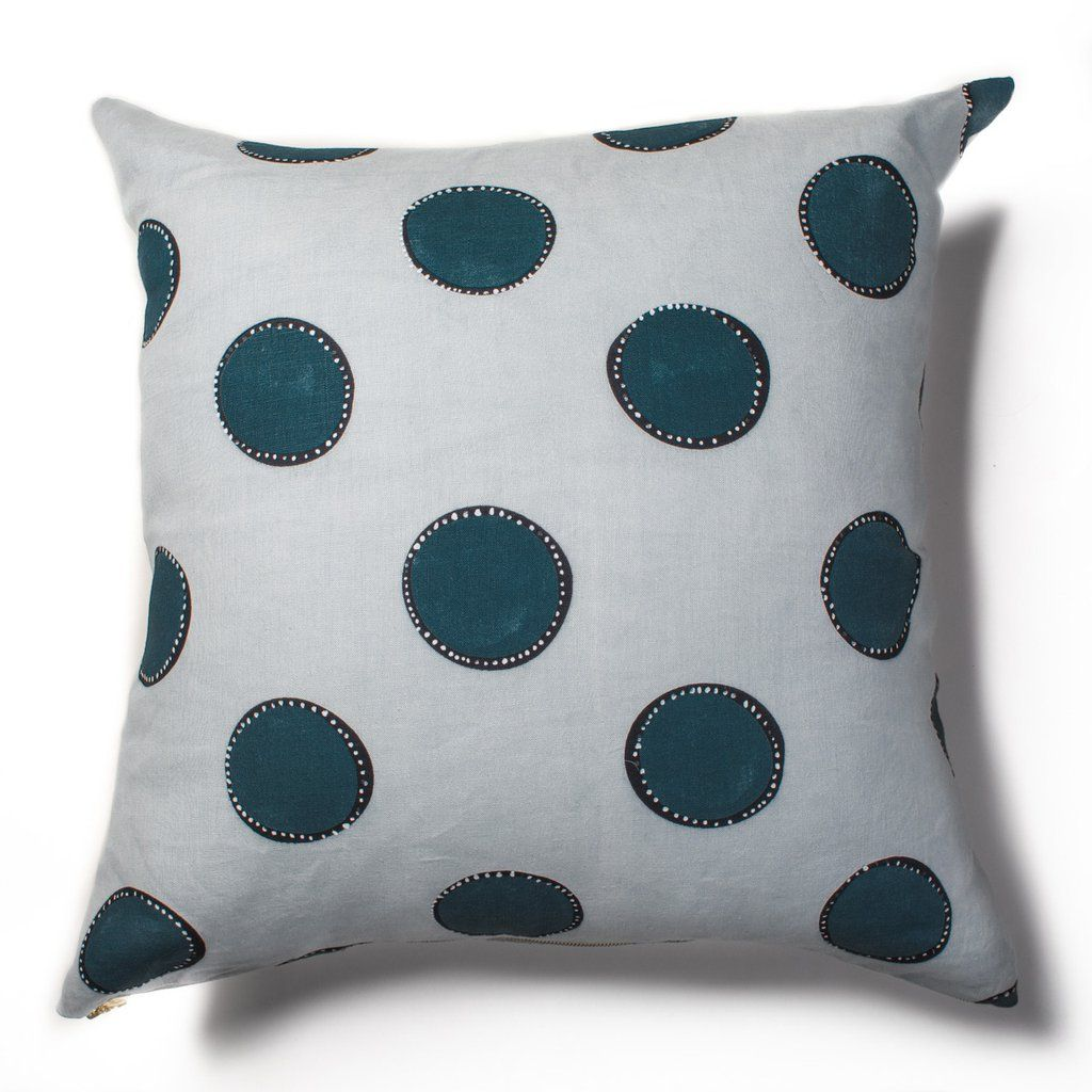 Rebecca atwood dotted circles marine pillow nl house design