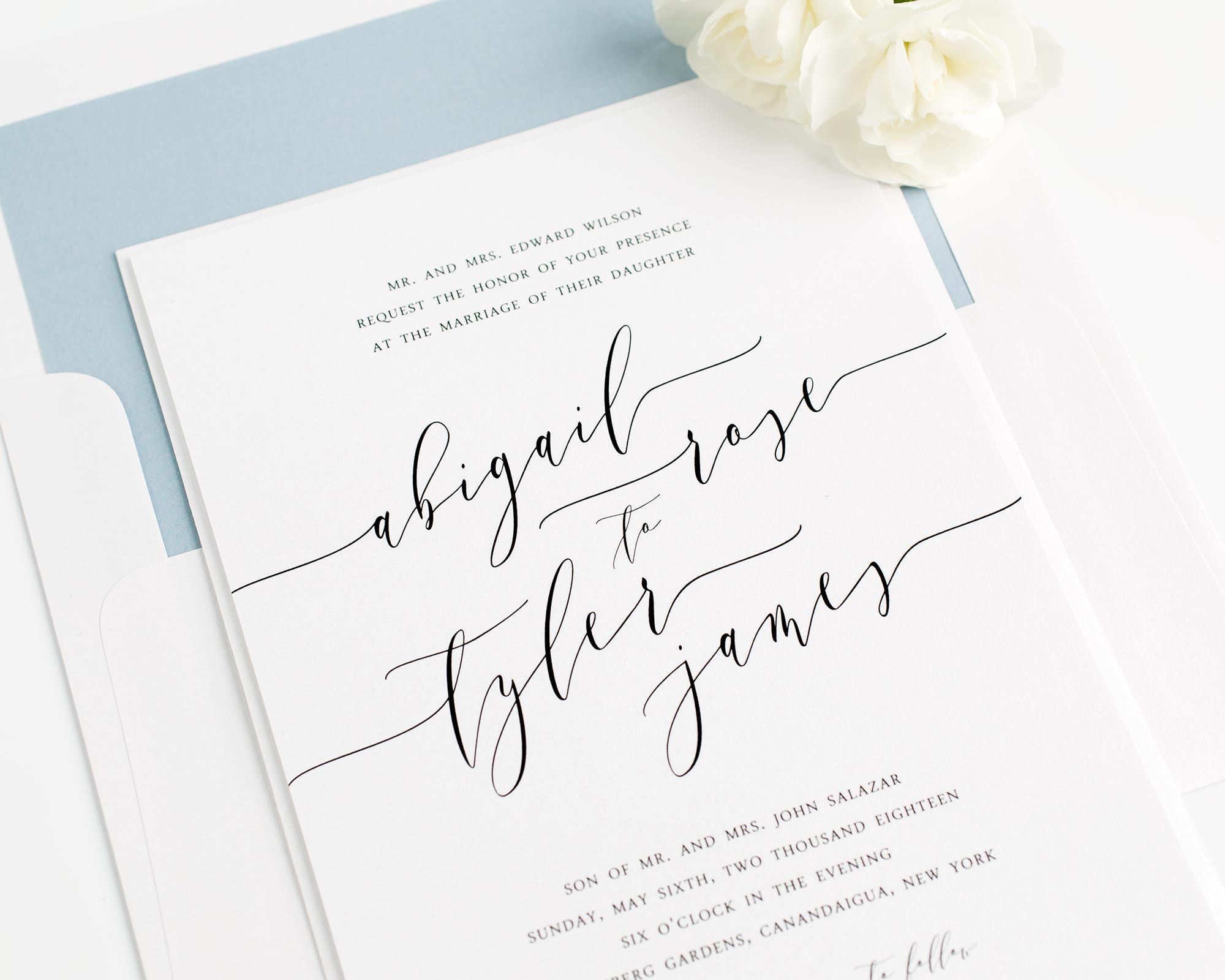 Romantic Calligraphy Wedding Invitations Romantic Romantic