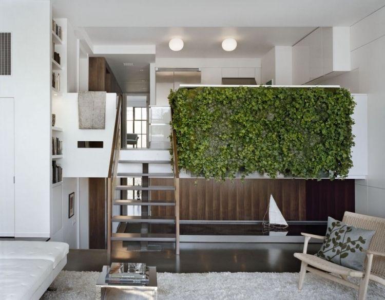 vertikaler-garten-wohnzimmer-mansarde-loft-wohnung-leiter-treppe ...
