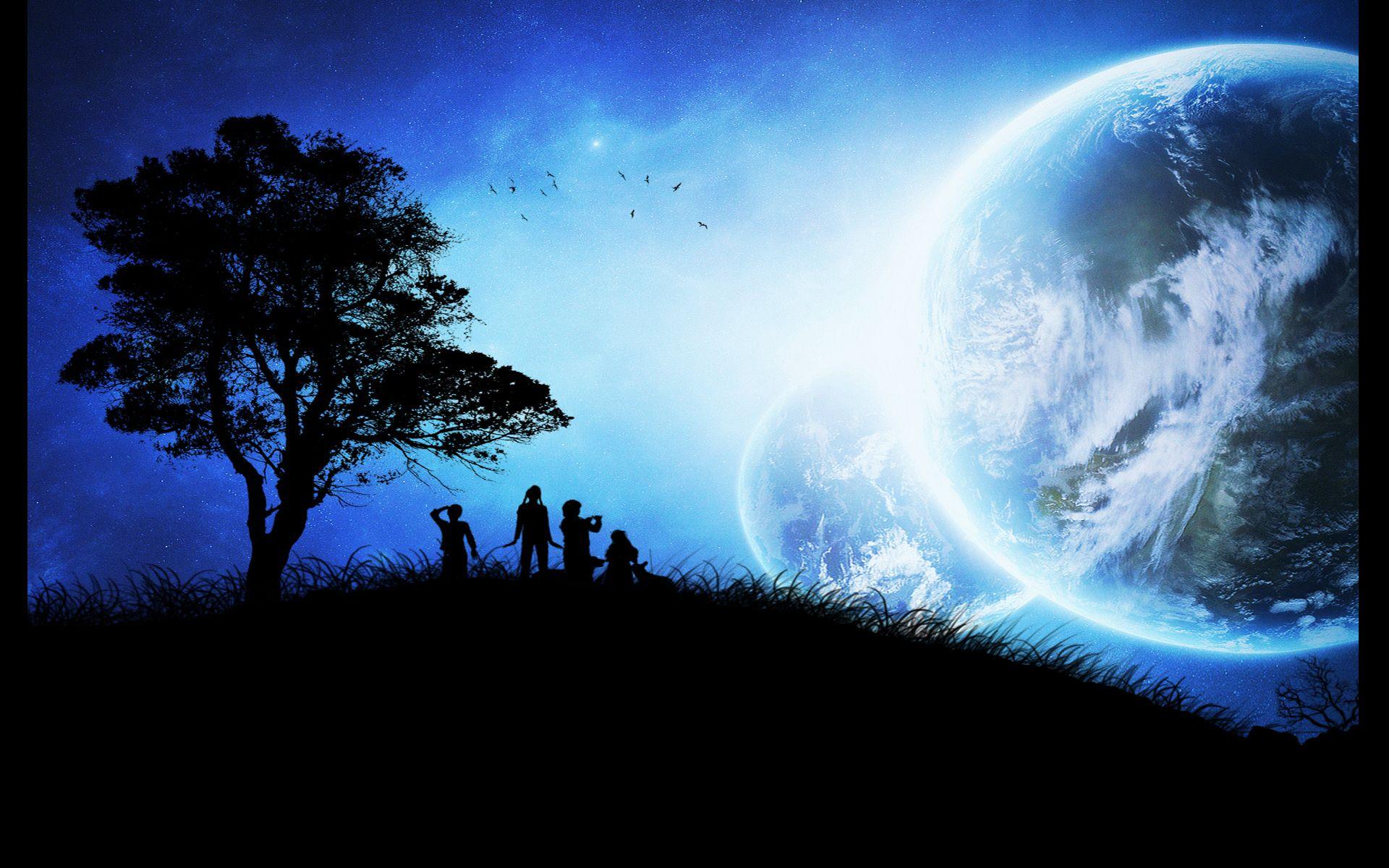 Blue Night wallpaper [ scifi ] Pinterest