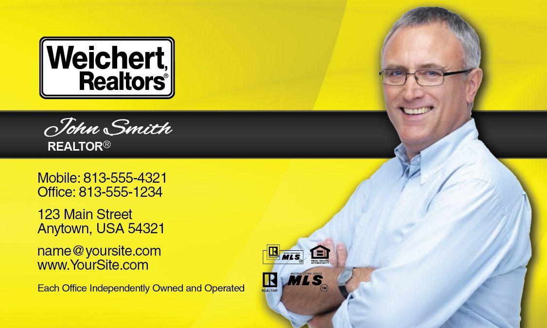 Yellow Weichert Realtors Business Card Design.   Weichert Realtors ...
