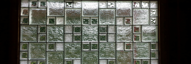 Elegant Basement Glass Block