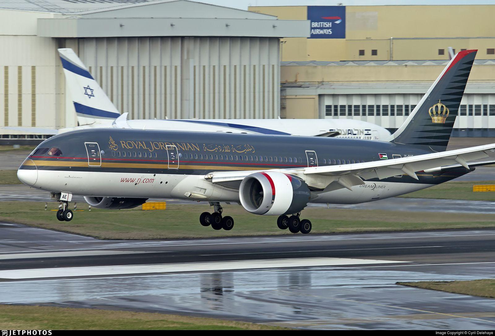 Jy Bae Boeing 787 8 Dreamliner Royal Jordanian Jetphotos Boeing 787 Royal Jordanian Aviation