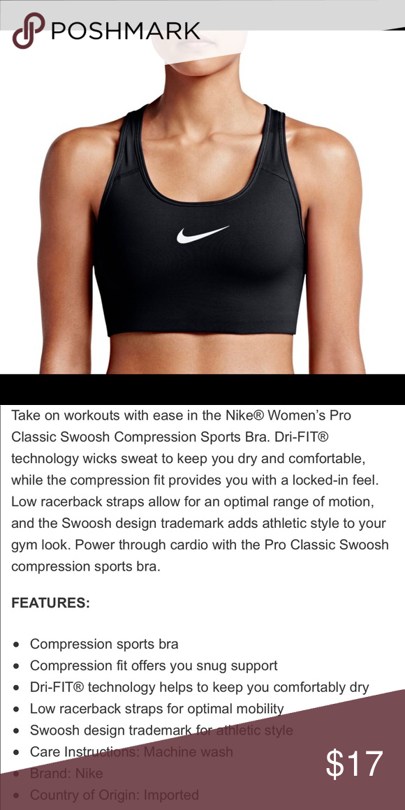 f57e8e0fb95e4 Nike Dri-Fit Sports Bra Size S Non padded Great condition Nike Tops ...