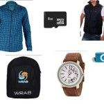 Wrab Combo Of Shirt,Memorycard,Jacket,Bag,Watch And Mp3 Player At Rs 999