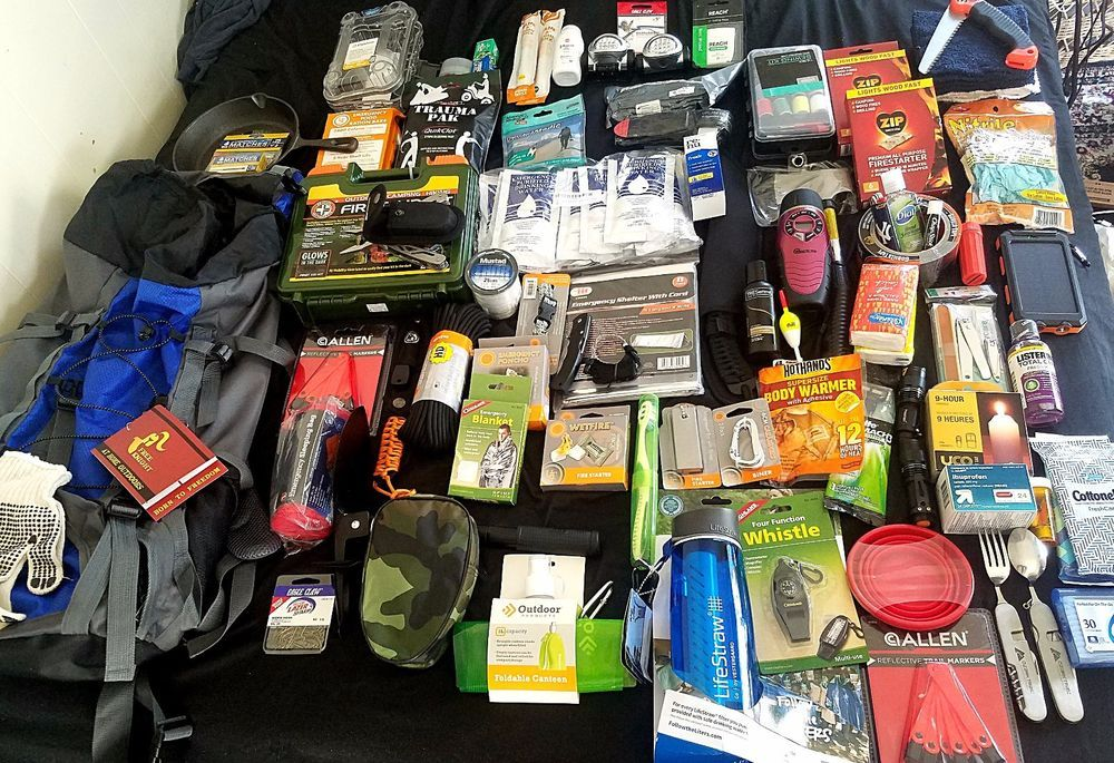 450$ Survival Kit Bug Out Bag 10Day Backpack First Aid Food MRE Water Lifestraw Gear