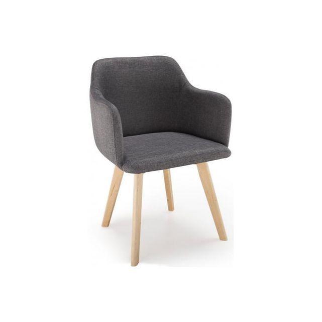 Caracteristique du Chaise Style Scandinave Tissu Gris Foncé SAGA sur