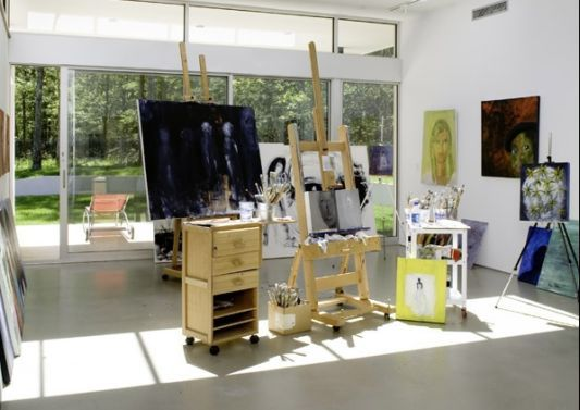 art studio space minus the easels - Art Studio Design Ideas