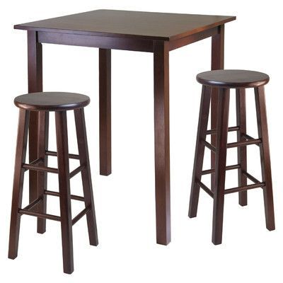 Red Barrel Studio Auburn Road 3 Piece Counter Height Pub Table Set